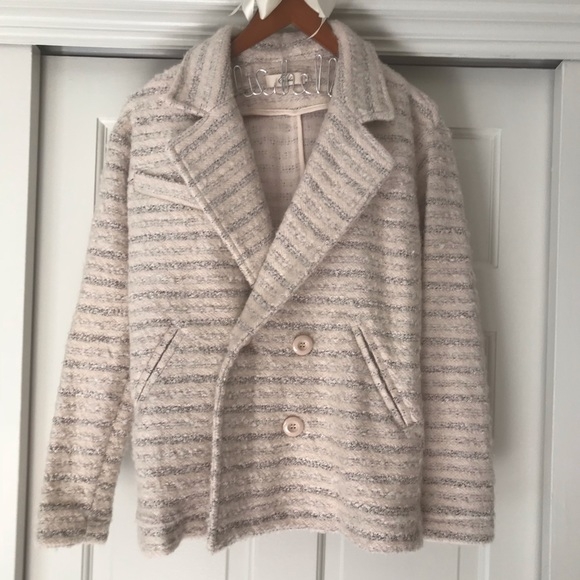 Elodie Jackets & Blazers - Light pink and gray pea coat